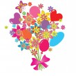 Greeting bouquet — Stock Vector #21350089