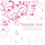 Beautiful pink card — Stock Vector #21376645