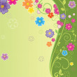 Floral summer background — Stock Vector