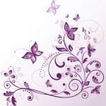 Vintage floral violet card — Stock Vector #21376785