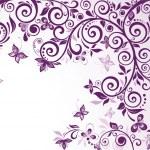Violet vintage floral card — Stock Vector #21376791