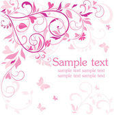 Beautiful pink card — Vector de stock