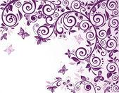 Violett vintage blommig kort — Stockvektor