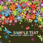 Retro floral card — Stock Vector #21381225