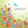 Vector de stock : Summer flowers