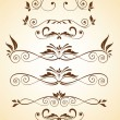 Stock Vector: vintage borders