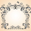 Stock Vector: Greeting frame