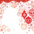 Red holiday border — Stock Vector