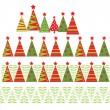 Seamless christmas border — Stock Vector