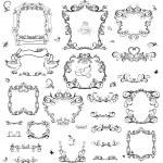 Set of vintage frame and design elements — Stock Vector