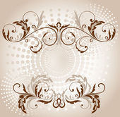 Vintage brown frame — Stock Vector