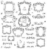 Set of vintage frame and design elements — Stock Vector