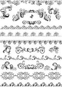Decorative border and design elements — Stock Vector