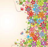 Summer floral background — Stockvektor