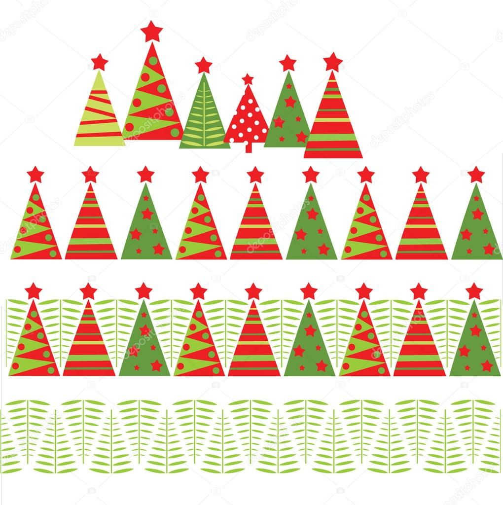Christmas Border Vector Seamless christmas border