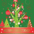 Stock Vector: Xmas card