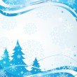 Stock Vector: Winter blue banner