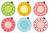 Plate with ladybug — Stock Vector