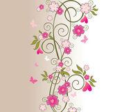Beautiful floral border — Stock Vector