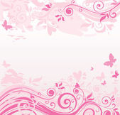 Floral pink border — Stock Vector