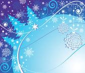 Winter blue card — Stock Vector