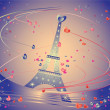 Celebration card with Eiffel Tower — Image vectorielle