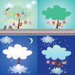 Set of magic tree — Stock Vector #21745407