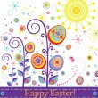 Stock Vector: Abstract greeting easter card
