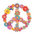 Colorful peace flower symbol — Stock Vector
