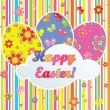 Colorful easter postcard - Image vectorielle