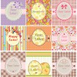 Stock Vector: Easter labels
