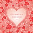 Greeting card with rose — Image vectorielle