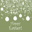 Vintage easter card with hanging egg - Stock Vector