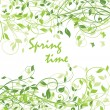 Stock Vector: Spring time