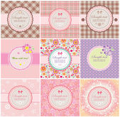 Beautiful greeting labels — Vettoriale Stock