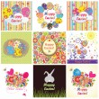 Easter cards - Grafika wektorowa