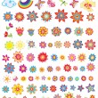 Set of summer flowers — Stock Vector #22364463