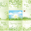 Green spring backgrounds — Stock Vector #22364469