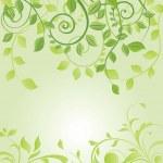 Spring green floral card — Stock Vector #22364757
