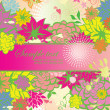 Stock Vector: Vertical banner with summery flowers