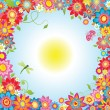 Summer flowers — Vector de stock #22364925