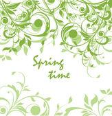 Jarní zelené vinobraní květinovým kartu — Stock vektor