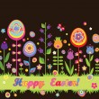 Stock Vector: Easter seamless border