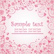Greeting pink card — Vettoriali Stock
