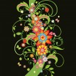 Ornate floral border — Stock Vector