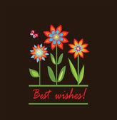Best wishes! — Stock Vector