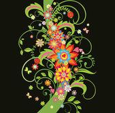 Ornate floral border — Wektor stockowy