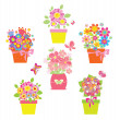 Royalty-Free Stock Vectorafbeeldingen: Funny greeting bouquets