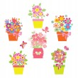 Funny greeting bouquets - Stock Vector