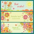 Horizontal greeting cards — Vector de stock #24637681